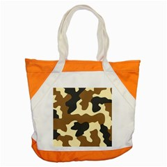 Initial Camouflage Camo Netting Brown Black Accent Tote Bag by Mariart