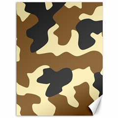 Initial Camouflage Camo Netting Brown Black Canvas 36  X 48   by Mariart