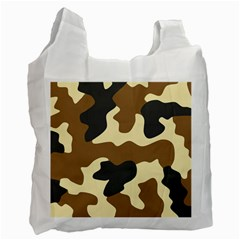 Initial Camouflage Camo Netting Brown Black Recycle Bag (one Side) by Mariart