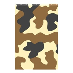 Initial Camouflage Camo Netting Brown Black Shower Curtain 48  X 72  (small)  by Mariart