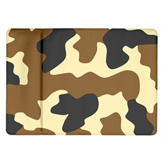 Initial Camouflage Camo Netting Brown Black Samsung Galaxy Tab 10 1  P7500 Flip Case by Mariart