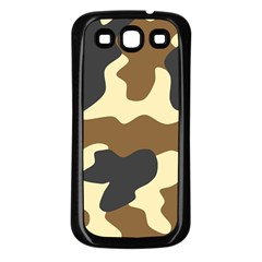 Initial Camouflage Camo Netting Brown Black Samsung Galaxy S3 Back Case (black) by Mariart