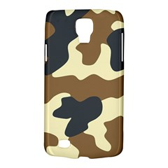 Initial Camouflage Camo Netting Brown Black Galaxy S4 Active by Mariart