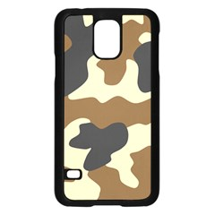 Initial Camouflage Camo Netting Brown Black Samsung Galaxy S5 Case (black) by Mariart