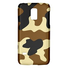 Initial Camouflage Camo Netting Brown Black Galaxy S5 Mini by Mariart
