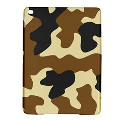 Initial Camouflage Camo Netting Brown Black Ipad Air 2 Hardshell Cases by Mariart