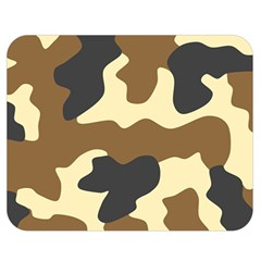 Initial Camouflage Camo Netting Brown Black Double Sided Flano Blanket (medium)  by Mariart