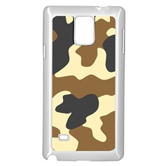 Initial Camouflage Camo Netting Brown Black Samsung Galaxy Note 4 Case (white) by Mariart