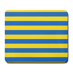 Horizontal Blue Yellow Line Large Mousepads by Mariart
