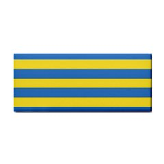 Horizontal Blue Yellow Line Cosmetic Storage Cases by Mariart