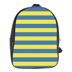 Horizontal Blue Yellow Line School Bags(large)