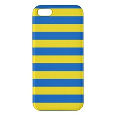 Horizontal Blue Yellow Line Iphone 5s/ Se Premium Hardshell Case by Mariart