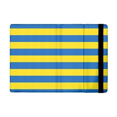 Horizontal Blue Yellow Line Ipad Mini 2 Flip Cases by Mariart