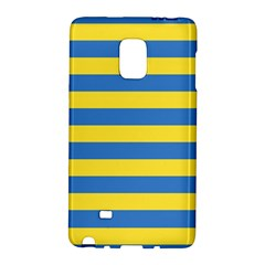 Horizontal Blue Yellow Line Galaxy Note Edge by Mariart