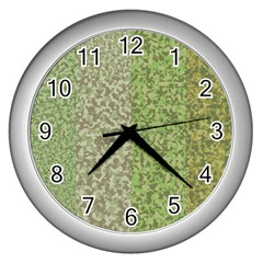 Camo Pack Initial Camouflage Wall Clocks (silver)  by Mariart