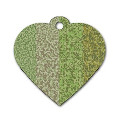 Camo Pack Initial Camouflage Dog Tag Heart (one Side) by Mariart