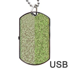 Camo Pack Initial Camouflage Dog Tag Usb Flash (two Sides) by Mariart
