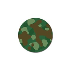 Initial Camouflage Como Green Brown Golf Ball Marker by Mariart