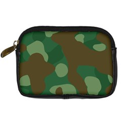 Initial Camouflage Como Green Brown Digital Camera Cases by Mariart