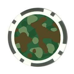 Initial Camouflage Como Green Brown Poker Chip Card Guard (10 Pack)