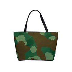 Initial Camouflage Como Green Brown Shoulder Handbags by Mariart