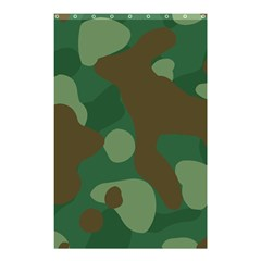 Initial Camouflage Como Green Brown Shower Curtain 48  X 72  (small)  by Mariart