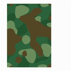 Initial Camouflage Como Green Brown Small Garden Flag (two Sides) by Mariart