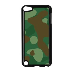 Initial Camouflage Como Green Brown Apple Ipod Touch 5 Case (black) by Mariart