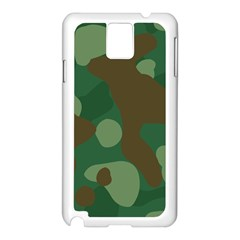 Initial Camouflage Como Green Brown Samsung Galaxy Note 3 N9005 Case (white) by Mariart