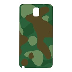 Initial Camouflage Como Green Brown Samsung Galaxy Note 3 N9005 Hardshell Back Case by Mariart