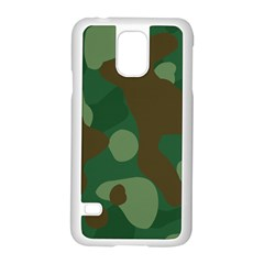 Initial Camouflage Como Green Brown Samsung Galaxy S5 Case (white) by Mariart