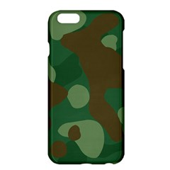 Initial Camouflage Como Green Brown Apple Iphone 6 Plus/6s Plus Hardshell Case by Mariart
