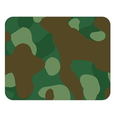 Initial Camouflage Como Green Brown Double Sided Flano Blanket (large)  by Mariart