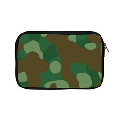 Initial Camouflage Como Green Brown Apple Macbook Pro 13  Zipper Case by Mariart
