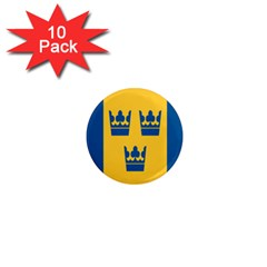 King Queen Crown Blue Yellow 1  Mini Magnet (10 Pack)  by Mariart