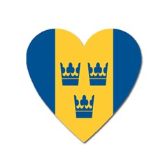 King Queen Crown Blue Yellow Heart Magnet by Mariart