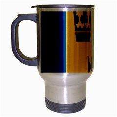 King Queen Crown Blue Yellow Travel Mug (silver Gray) by Mariart