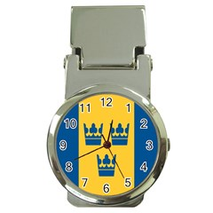 King Queen Crown Blue Yellow Money Clip Watches by Mariart
