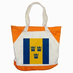 King Queen Crown Blue Yellow Accent Tote Bag by Mariart