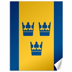 King Queen Crown Blue Yellow Canvas 36  X 48   by Mariart