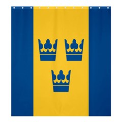 King Queen Crown Blue Yellow Shower Curtain 66  X 72  (large)  by Mariart