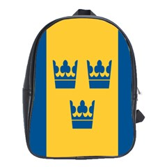 King Queen Crown Blue Yellow School Bags(large)