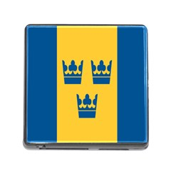 King Queen Crown Blue Yellow Memory Card Reader (square) by Mariart
