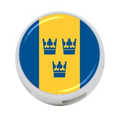 King Queen Crown Blue Yellow 4 Port Usb Hub (one Side) by Mariart