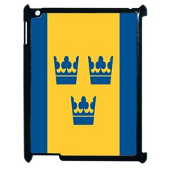 King Queen Crown Blue Yellow Apple Ipad 2 Case (black) by Mariart