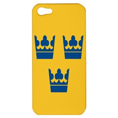 King Queen Crown Blue Yellow Apple Iphone 5 Hardshell Case by Mariart