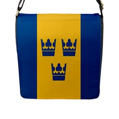 King Queen Crown Blue Yellow Flap Messenger Bag (l)  by Mariart