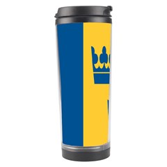 King Queen Crown Blue Yellow Travel Tumbler by Mariart