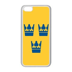King Queen Crown Blue Yellow Apple Iphone 5c Seamless Case (white) by Mariart