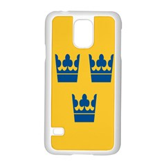 King Queen Crown Blue Yellow Samsung Galaxy S5 Case (white) by Mariart